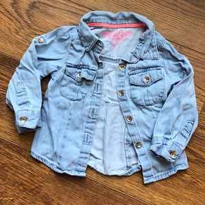 👧12 mo OshKosh Chambray / Denim Button-up Shirt